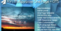 Multipurpose fly one panel admin page