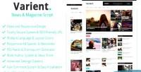 News varient magazine script