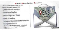 Email newsletter sender with tracking geo live