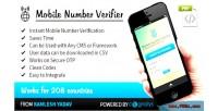 Number mobile script php verifier