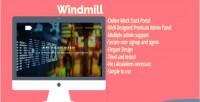 Online windmill portal stock mock