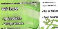Only interest calculator
