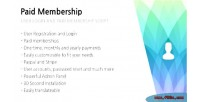 Paid membership user login membership paid & paid