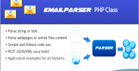 Php emailparser class emails parsing for