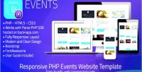 Php events event sharing template web php parse
