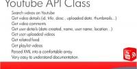 Php5 ytclass class api youtube