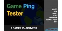 Ping game tester