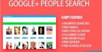 Plus google php scraper people