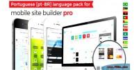 Portuguese language for mobile pro builder site