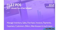 Pos ez point of billing sale invoicing management stock