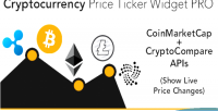 Price cryptocurrency ticker plugin widget wordpress pro