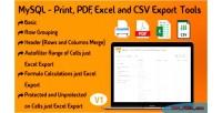 Print mysql pdf & excel tools export csv