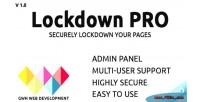 Pro lockdown
