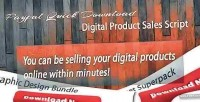 Quick paypal download sales product digital