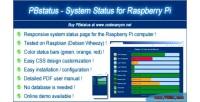 Raspberry pbstatus status system pi