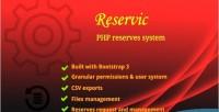 Reserves reservic management system