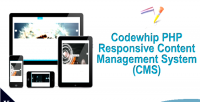 Responsive codewhip cms builder layout with