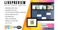 Responsive livepreview digital bar demo product