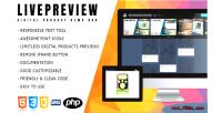 Responsive livepreview digital bar demo product