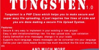 Secure tungsten easy class uploading file