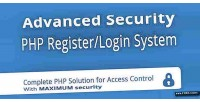 Security advanced php system login register