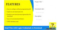 Send files with login download to credentials