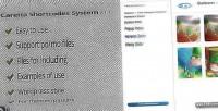Shortcodes caretta system