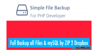 Simple backup files & php using mysql