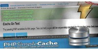 Simple php cache