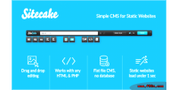 Simple sitecake cms websites static for