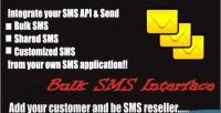 Sms bulk interface