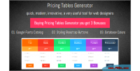Tables pricing generator