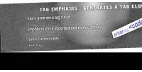 Tag emphasis cloud generator