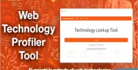 Technology web profiler tool