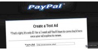 Direct text link ad integrated paypal seller