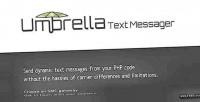 Text umbrella messager