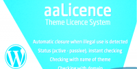 Theme aalicence licence wordpress of system