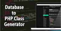 To database generator class php