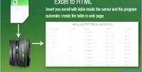 To excel html
