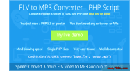 To flv mp3 script php converter