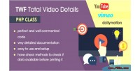 Total twf video class php details