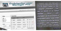 User codeigniter manager pro