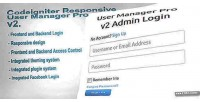 User codeigniter v2 pro manager