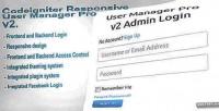 User codeigniter v2 pro manager