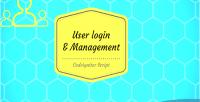 User php login hmvc & codeigniter management