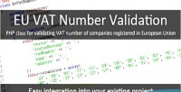 Vat eu number validation