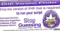 Version php finder