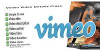 Video vimeo details class