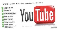 Video youtube details class
