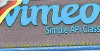 Vimeo vimeolib class api simple